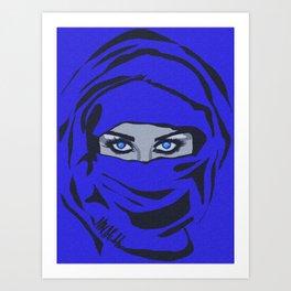 The Blue Veil Art Print