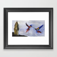 Parrots of Dolores Park Framed Art Print