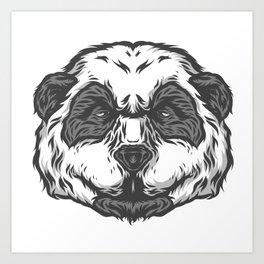 Brooding Panda Art Print