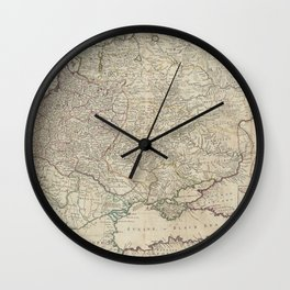 Russia and Poland 1730 Wall Clock