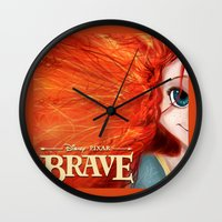 merida Wall Clocks featuring Brave: Merida by Schewy