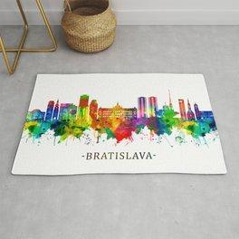 Bratislava Slovakia Skyline Rug
