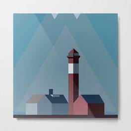 Northern landscape, minimalist illustration, nordic style, Sweden, Finland, Norway, Denmark Metal Print