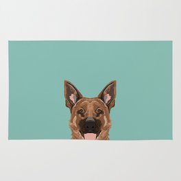 Skylar - German Shepherd gifts for dog people dog lover gifts german shepherd owners perfect gifts Rug