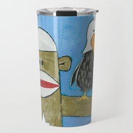 Sock Monkey 301 Travel Mug