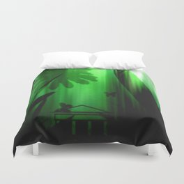 Deep in the rain forest. Duvet Cover