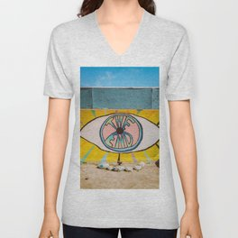 The End in Yucca Valley Unisex V-Neck