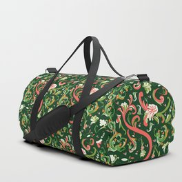 Swirly Trendy_Green Duffle Bag