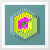 illusion Art Prints featuring ILLUSION by d.ts