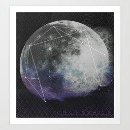 Magnetic universe Art Print