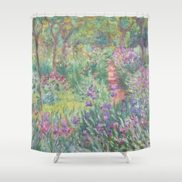 Lilacs on Garden Path by Claude Monet Shower Curtain