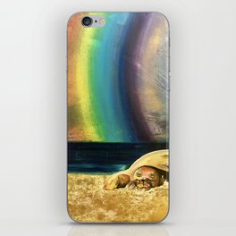 Sleepy Seal on the Beach iPhone Skin