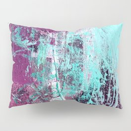 01012: a vibrant abstract piece in teal and ultraviolet Pillow Sham