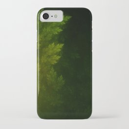 Beautiful Fractal Pines in the Misty Spring Night iPhone Case