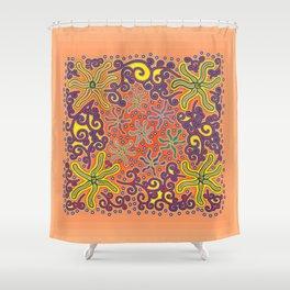 bungong jeumpa series: sandybrown Shower Curtain