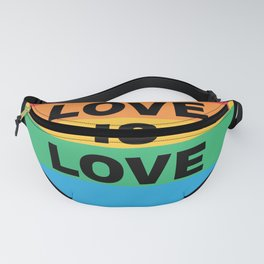 Pride Day Love is Love Rainbow Flag LGBT Fanny Pack