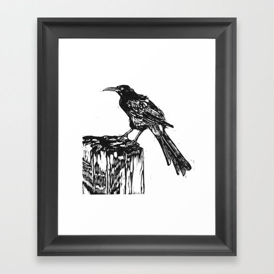Grackle Framed Art Print