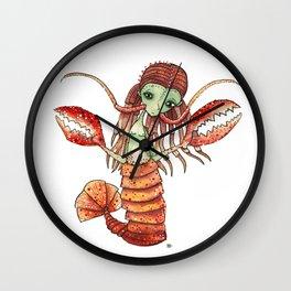 Lobster Girl Wall Clock