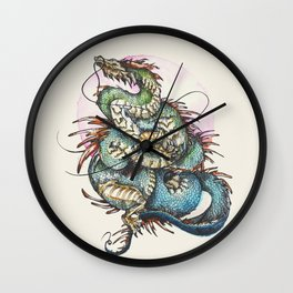 Eastern Dragon Wall Clock