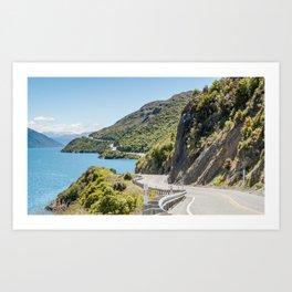 The Road to Queenstown, New Zealand Art Print