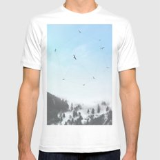 Fly Fly Away III Mens Fitted Tee White MEDIUM