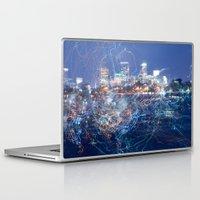 minneapolis Laptop & iPad Skins featuring Minneapolis Neon by Andrew C. Kurcan
