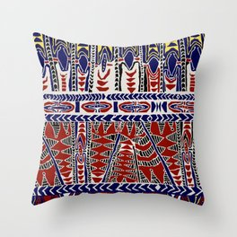 South Seas Samoa Batik Throw Pillow