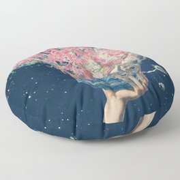 Love Makes The Earth Bloom Floor Pillow