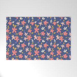 Dancing Florals Welcome Mat