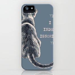 Cat Freedom iPhone Case