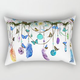 Folkestone Feather, Crystal And Butterfly Spirit Gazer Rectangular Pillow