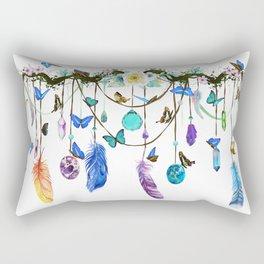 Folkestone Feather, Crystal And Butterfly Spirit Gazer Rectangular Pillow