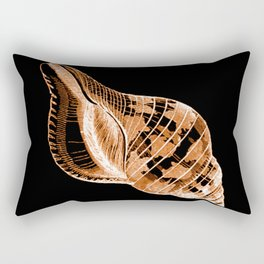 Shell nautical coastal in black background Rectangular Pillow