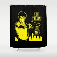 taxi driver Shower Curtains featuring Taxi driver art by Buby87