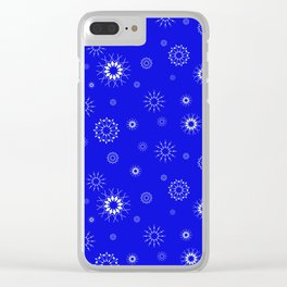 Snowflakes seamless pattern, textile, surface pattern Clear iPhone Case