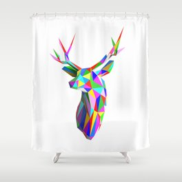 3D Stag Shower Curtain