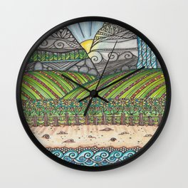 A Tangled Journy Wall Clock