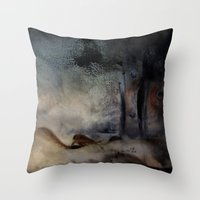 imagerybydianna Throw Pillows featuring at the close by Imagery by dianna