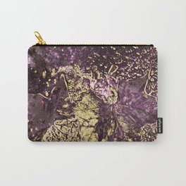 Purple leaves in melted gold Carry-All Pouch