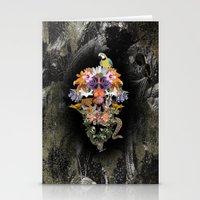 animal skull Stationery Cards featuring ANIMAL SKULL by sametsevincer