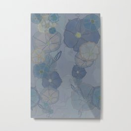 Foggy Morning Glories Metal Print