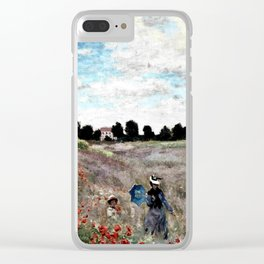 Claude Monet's Poppy Fields Clear iPhone Case