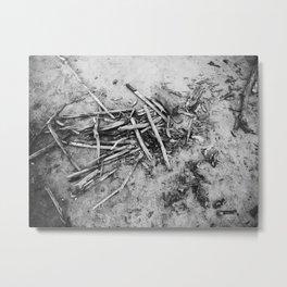 Jackstraws Metal Print