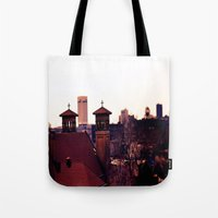 religion Tote Bags featuring Cleveland Religion by Toni Tylicki