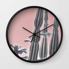 Cactus Bloom Wall Clock