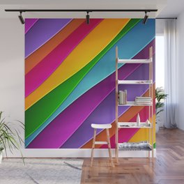 Layered Rainbow Wall Mural