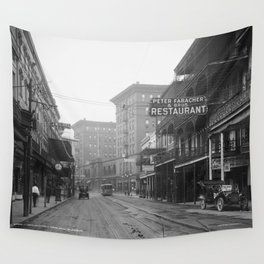 St. Charles Street from Canal, New Orleans, LA Wall Tapestry