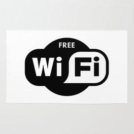 Free WiFi Here Rug
