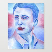 chris evans Canvas Prints featuring Chris Evans by thinkpassion