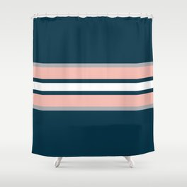 Colorful retro stripes Shower Curtain